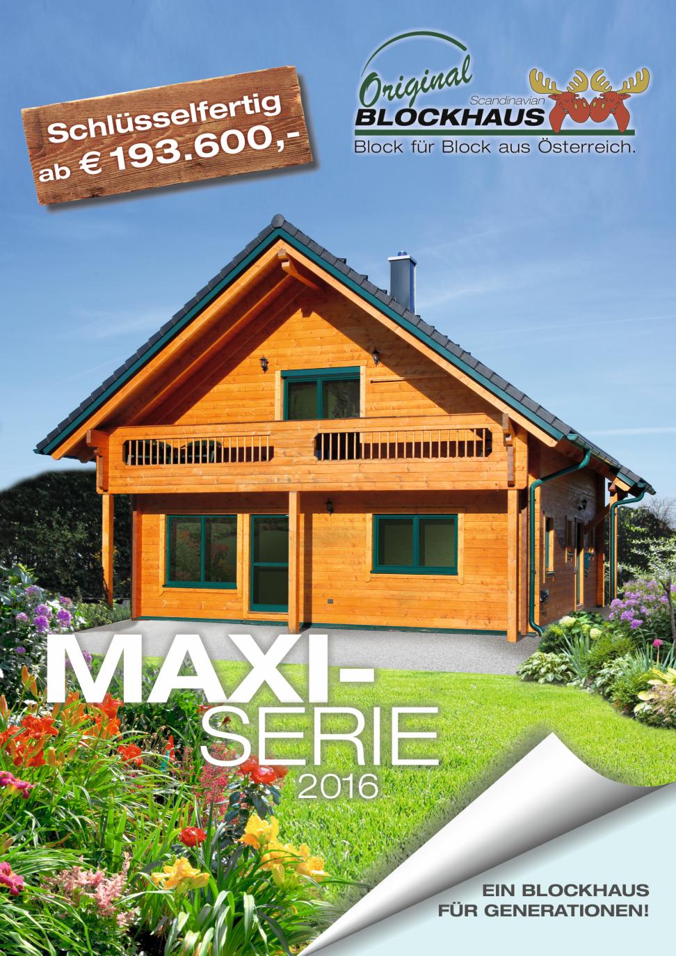 Scandinavian Blockhaus Maxifolder