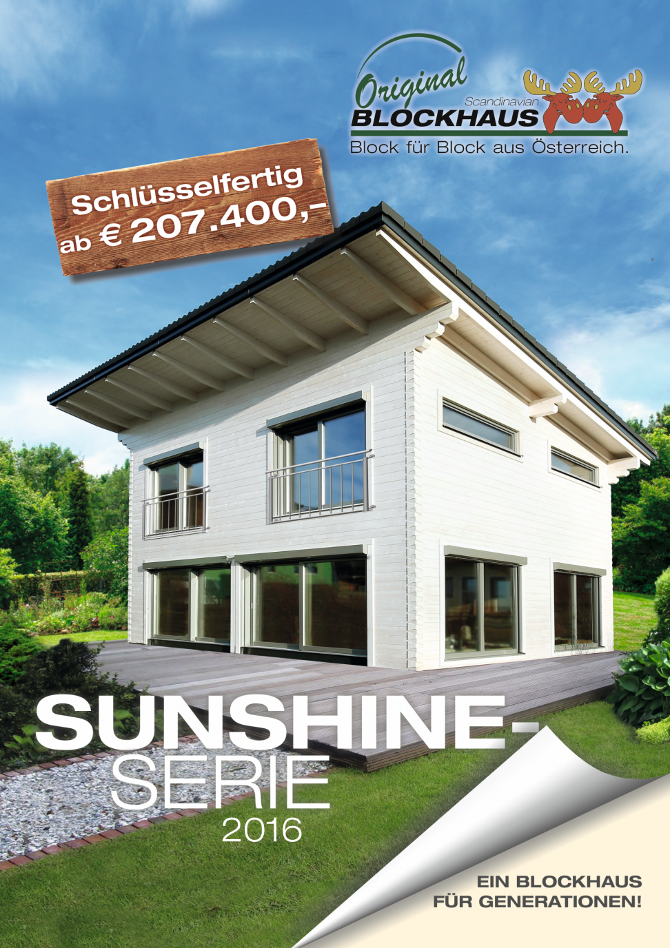 Scandinavian Blockhaus Sunshinefolder